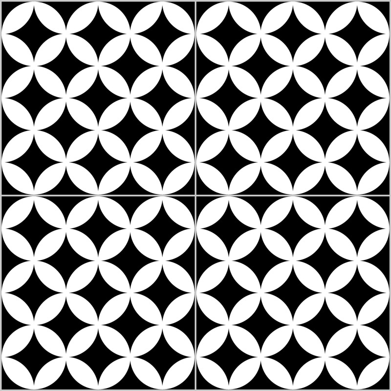 District circles black pattern