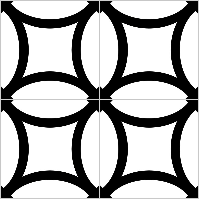 District figure black pattern
